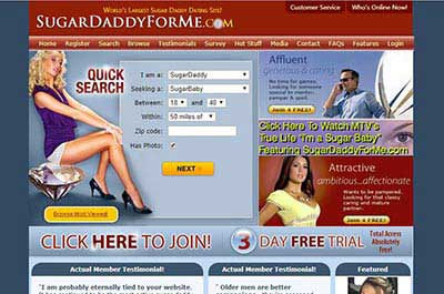 Free dating sites for sugar daddies